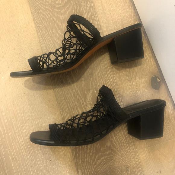 Chloe Jake Mesh Fishnet Sandals Size